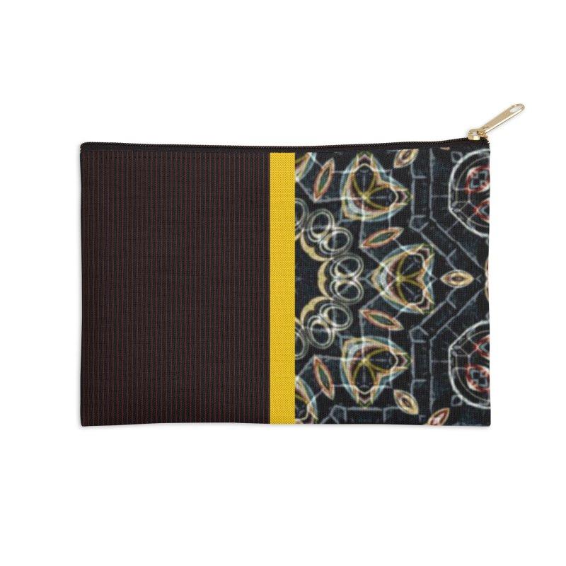 Tollan Explosion 1 Accessories Zip Pouch by Lady Ls Designs Artist Shop