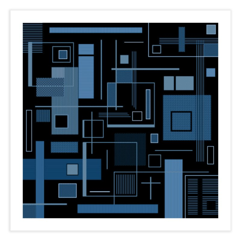 Blue Works Too Home Fine Art Print by Lady Ls Designs Artist Shop