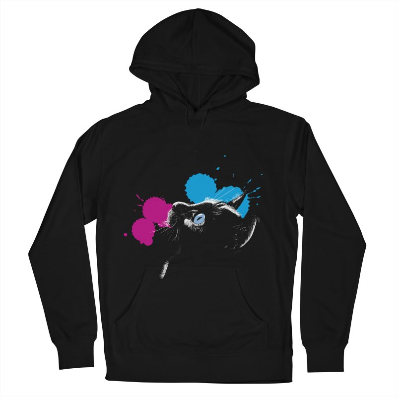 Cat In The Dark Women's Pullover Hoody by laihn's Artist Shop
