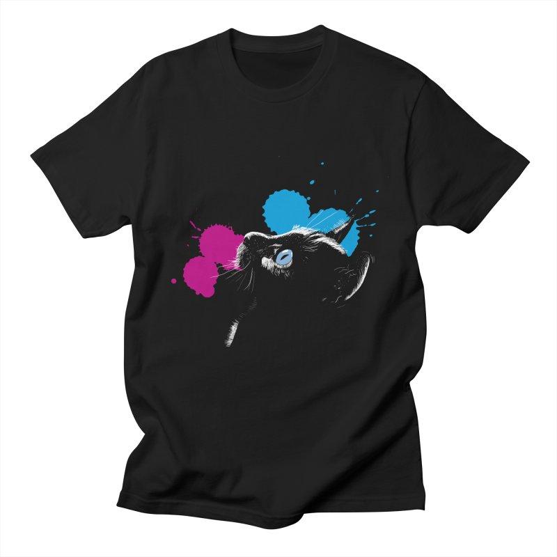 Cat In The Dark Men's T-Shirt by laihn's Artist Shop