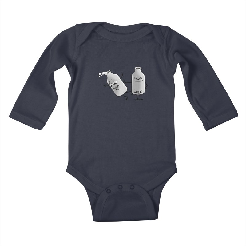 Bad Milk Kids Baby Longsleeve Bodysuit by laihn's Artist Shop