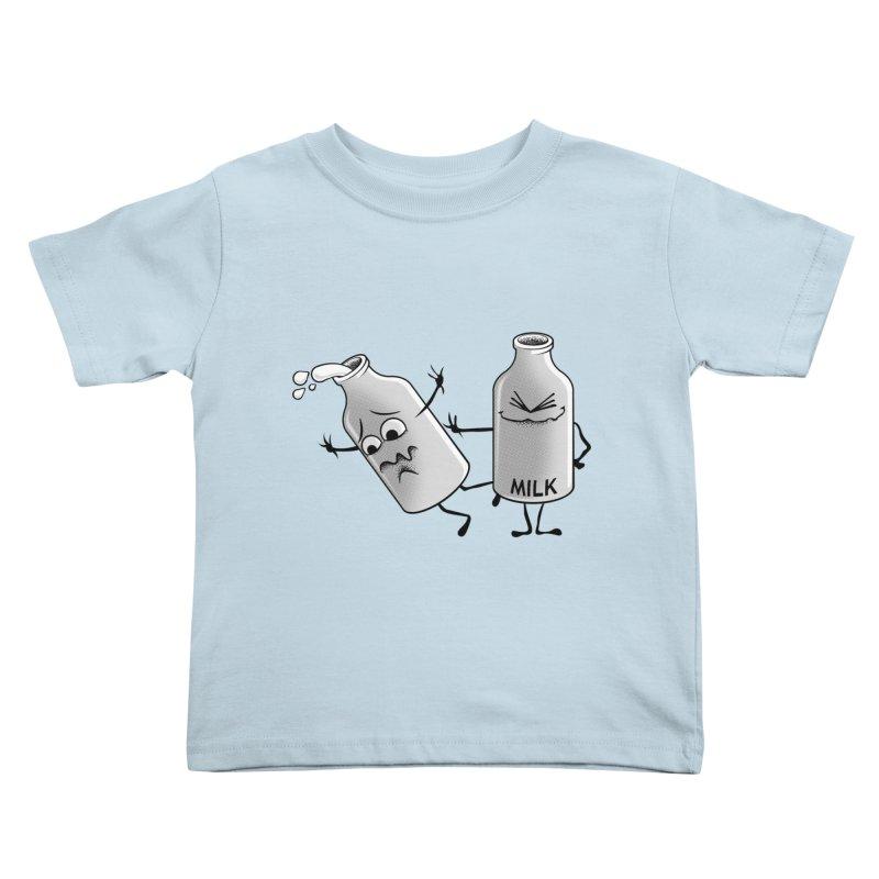 Bad Milk Kids Toddler T-Shirt by laihn's Artist Shop