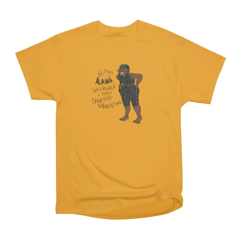 Hi! This is Alaina. And she's FADED. Men's Heavyweight T-Shirt by LAINWEAR