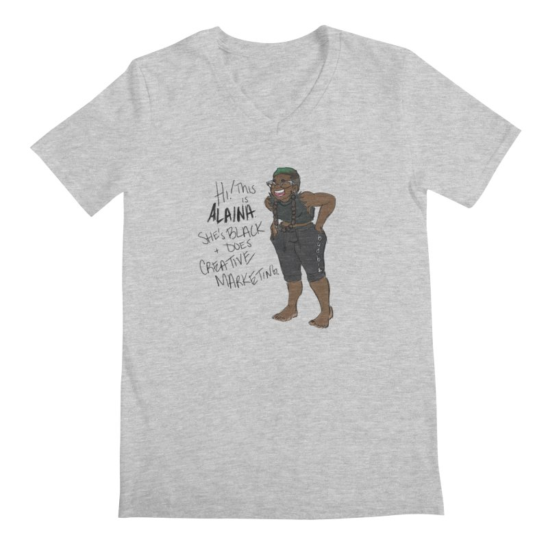 Hi! This is Alaina. And she's FADED. Men's Regular V-Neck by LAINWEAR