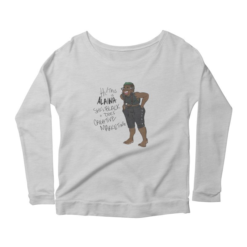 Hi! This is Alaina. And she's FADED. Women's Scoop Neck Longsleeve T-Shirt by LAINWEAR