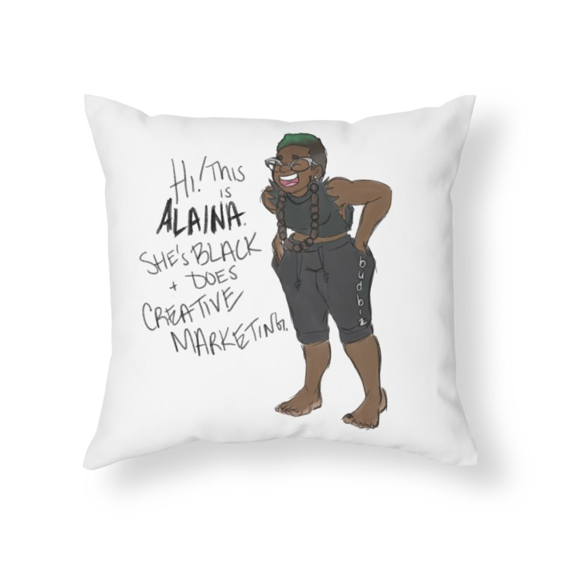 Hi! This is Alaina. And she's FADED. Home Throw Pillow by LAINWEAR