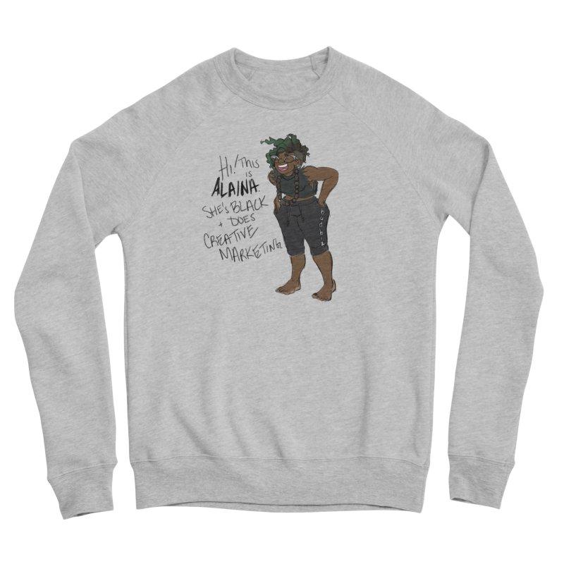 Hi! This is Alaina. And she's WIGGLY. Men's Sponge Fleece Sweatshirt by LAINWEAR