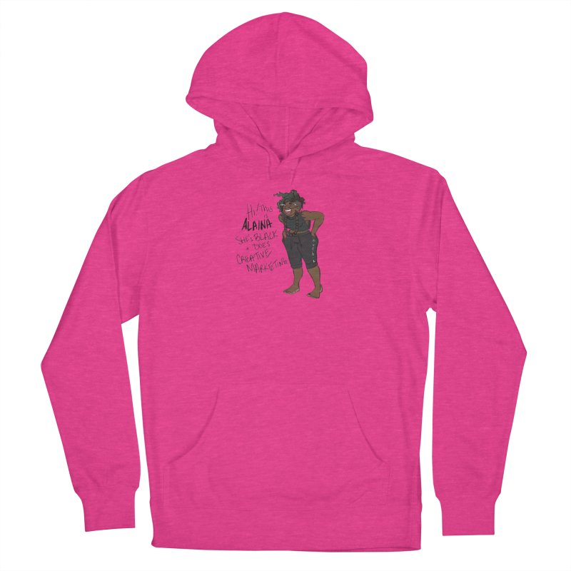 Hi! This is Alaina. And she's WIGGLY. Men's French Terry Pullover Hoody by LAINWEAR