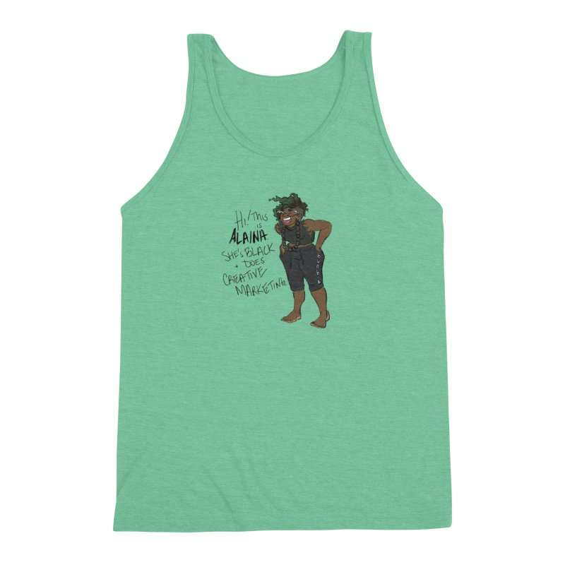 Hi! This is Alaina. And she's WIGGLY. Men's Triblend Tank by LAINWEAR