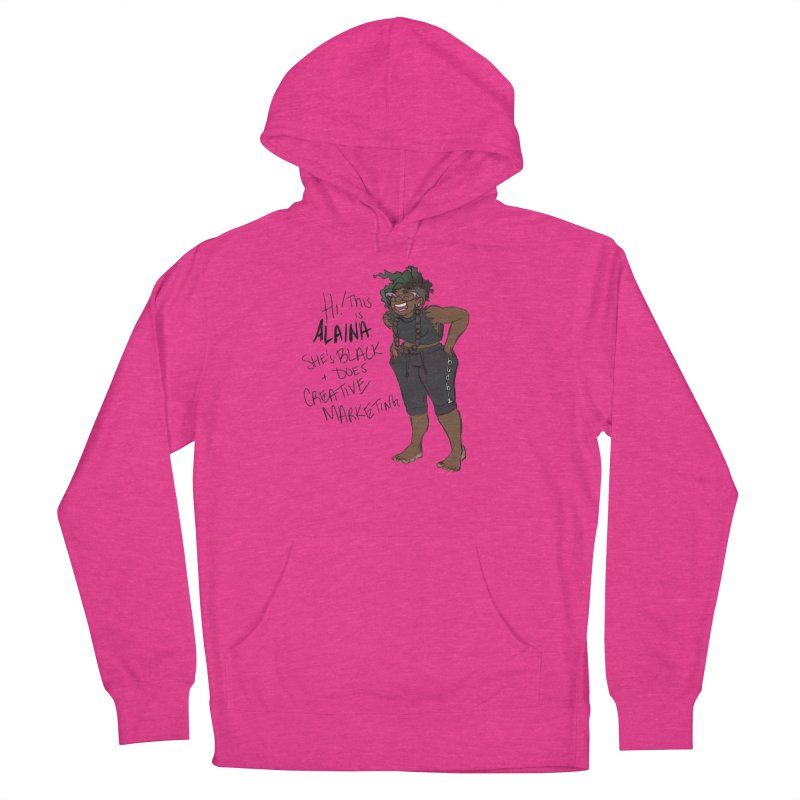 Hi! This is Alaina. And she's WIGGLY. Women's French Terry Pullover Hoody by LAINWEAR