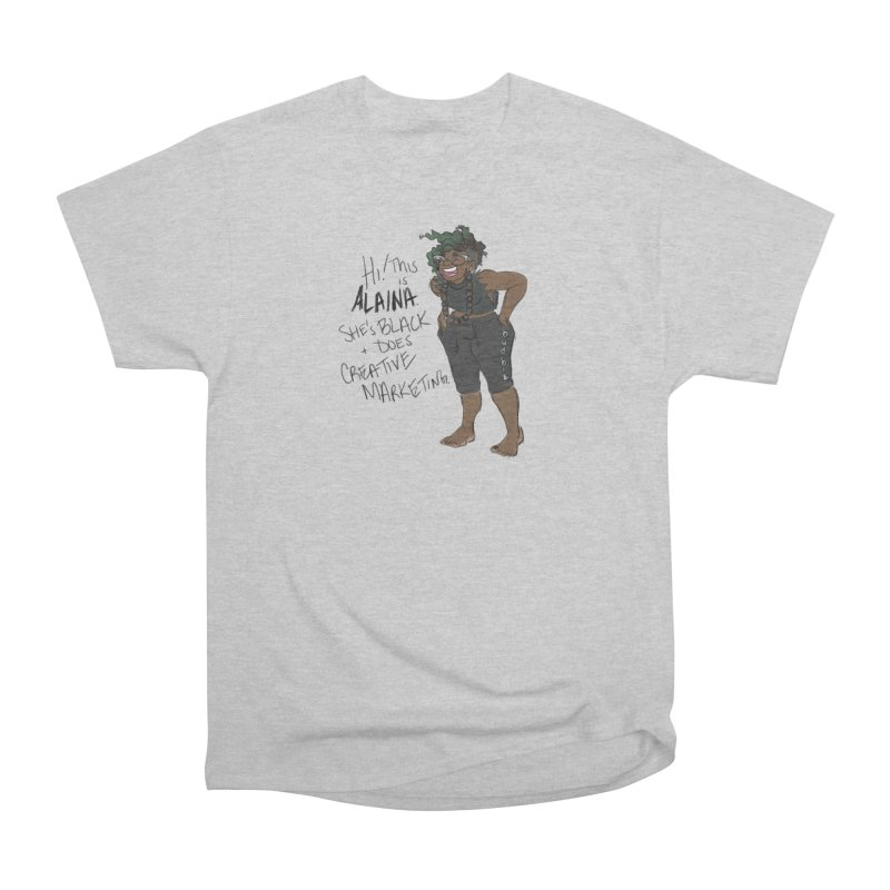 Hi! This is Alaina. And she's WIGGLY. Men's Heavyweight T-Shirt by LAINWEAR