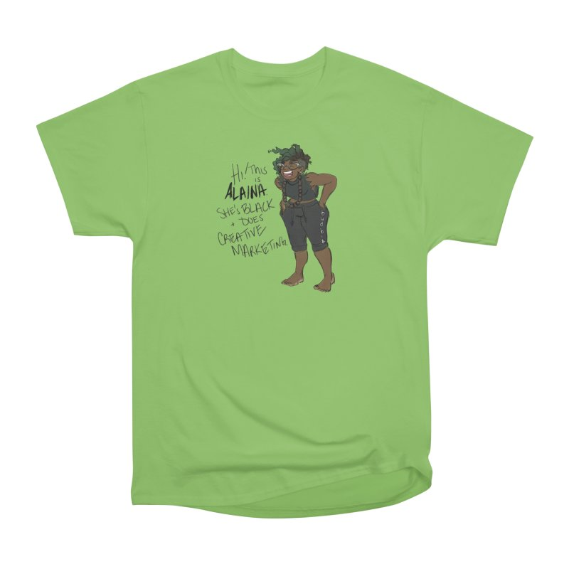 Hi! This is Alaina. And she's WIGGLY. Women's Heavyweight Unisex T-Shirt by LAINWEAR