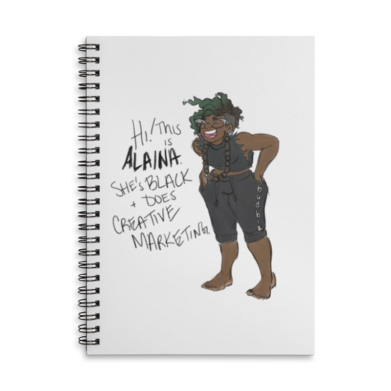Hi! This is Alaina. And she's WIGGLY. Accessories Lined Spiral Notebook by LAINWEAR