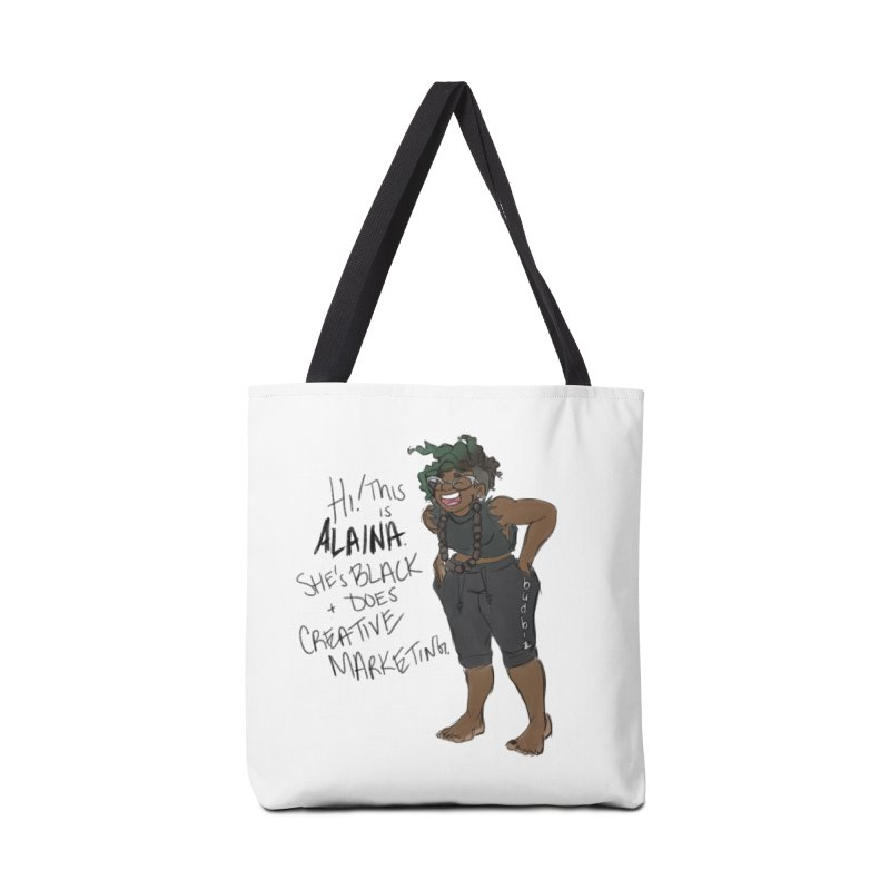 Hi! This is Alaina. And she's WIGGLY. Accessories Tote Bag Bag by LAINWEAR