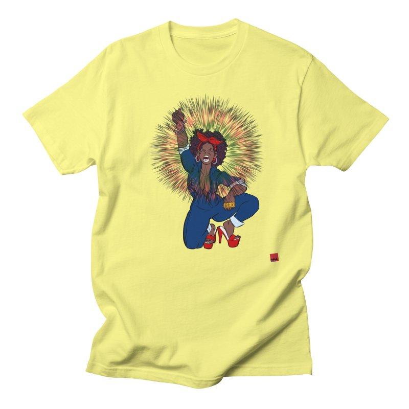 Black Woman's Roar Men's T-Shirt by rebelQuo