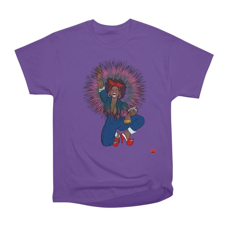 Black Woman's Roar Men's Heavyweight T-Shirt by rebelQuo
