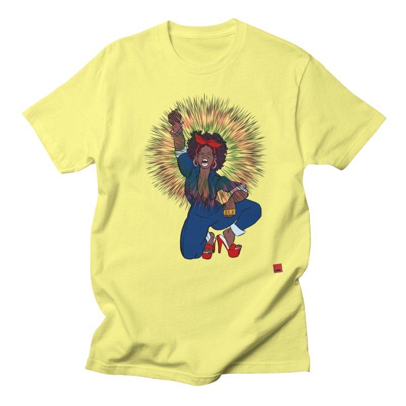 Black Woman's Roar Men's Regular T-Shirt by rebelQuo