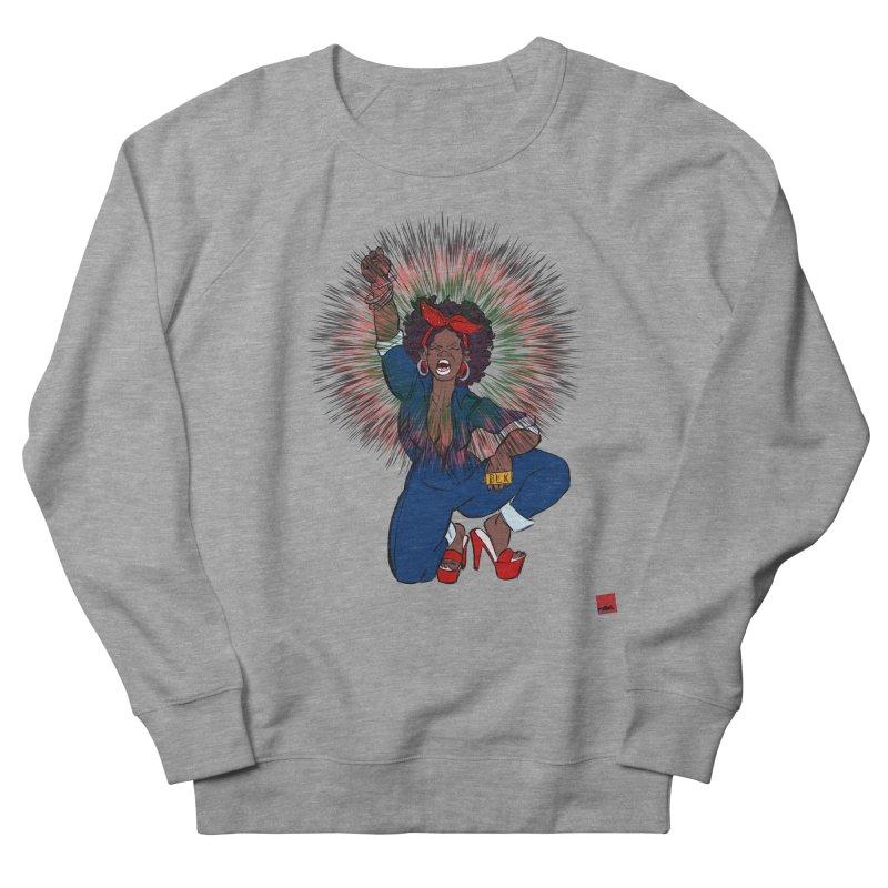 Black Woman's Roar Men's French Terry Sweatshirt by rebelQuo