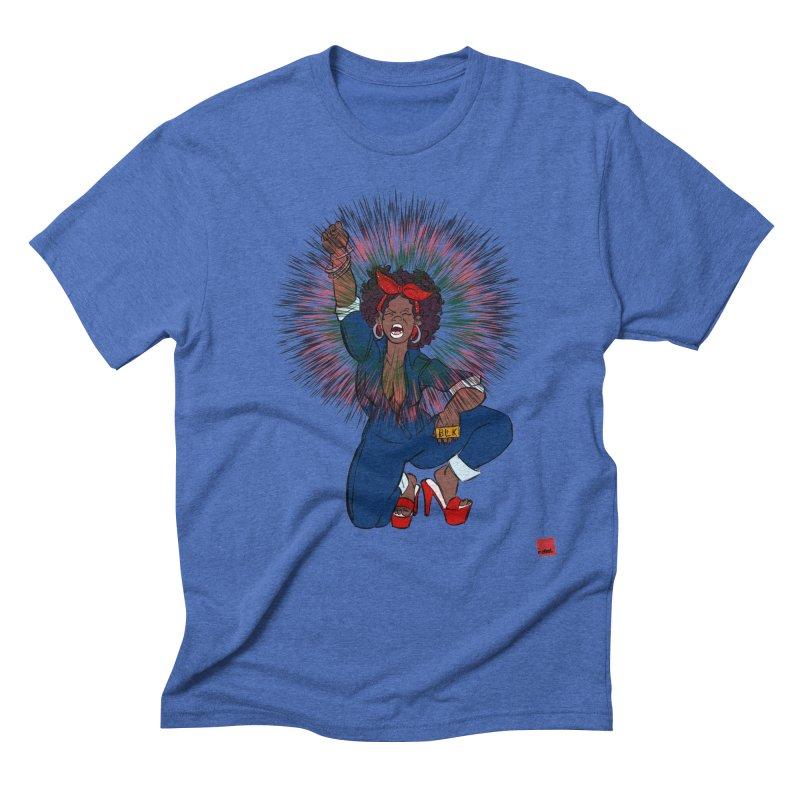 Black Woman's Roar Men's Triblend T-Shirt by rebelQuo