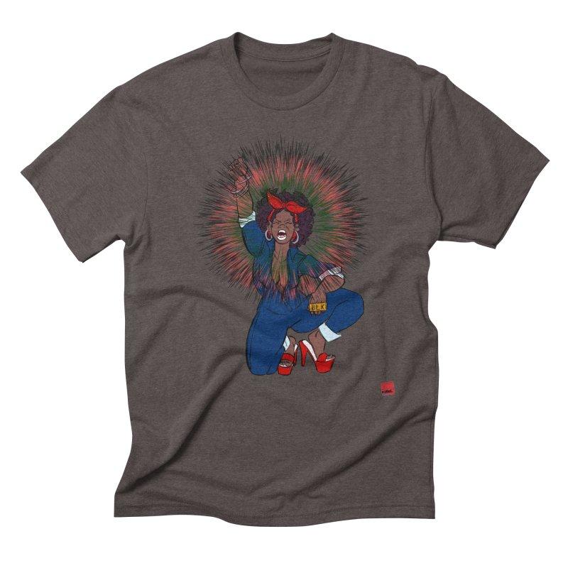 Black Woman's Roar Men's Triblend T-Shirt by LAINWEAR