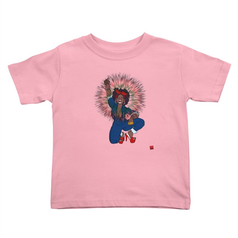 Black Woman's Roar Kids Toddler T-Shirt by LAINWEAR