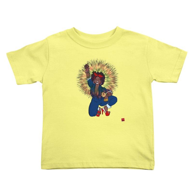 Black Woman's Roar Kids Toddler T-Shirt by rebelQuo