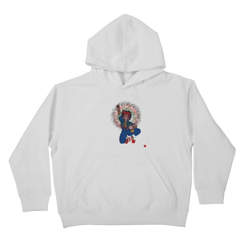 Black Woman's Roar Kids Pullover Hoody by rebelQuo