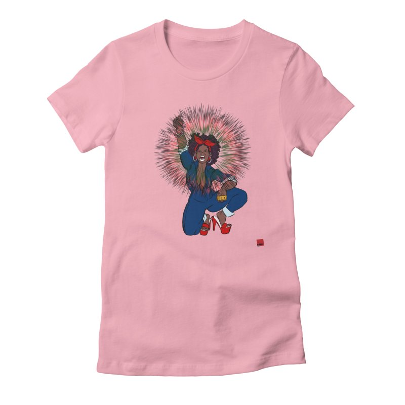 Black Woman's Roar Women's Fitted T-Shirt by rebelQuo