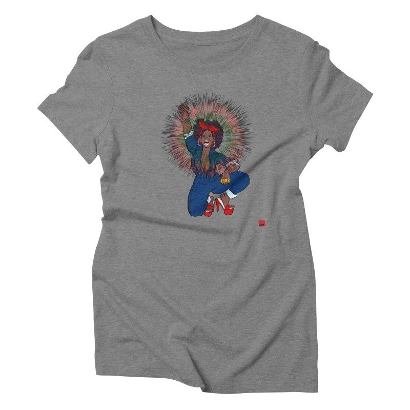 Black Woman's Roar Women's Triblend T-Shirt by LAINWEAR