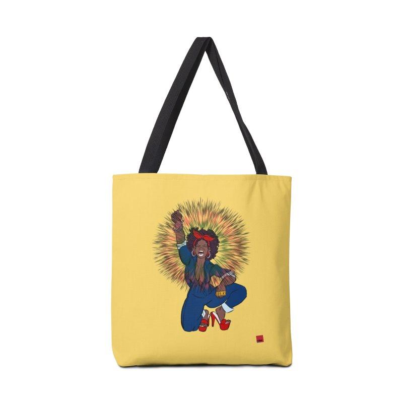 Black Woman's Roar Accessories Tote Bag Bag by rebelQuo