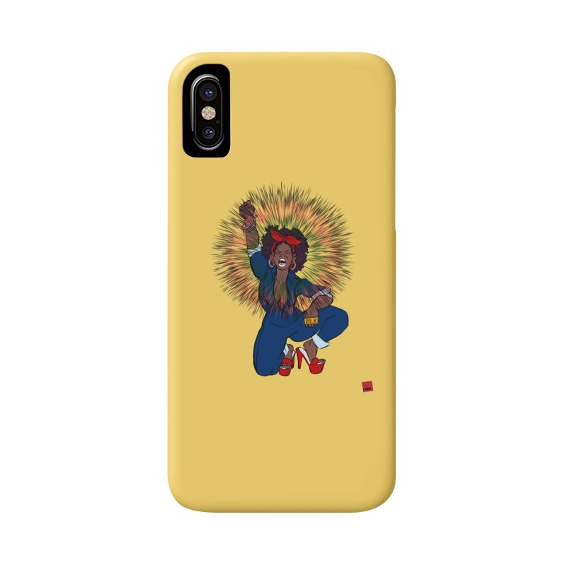 Black Woman's Roar Accessories Phone Case by rebelQuo