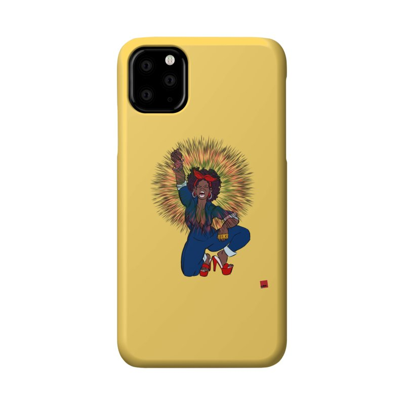 Black Woman's Roar Accessories Phone Case by rebelQuo