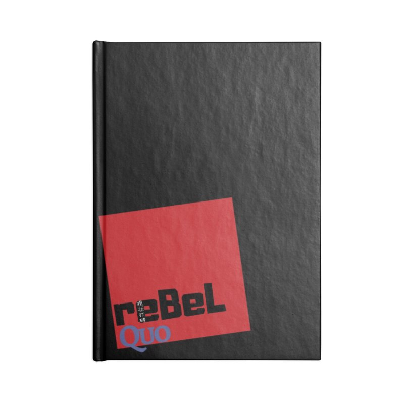rebelQuo Logo Accessories Lined Journal Notebook by rebelQuo