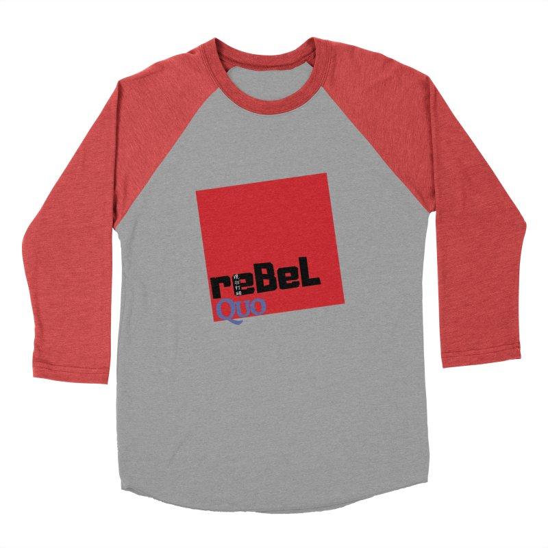 rebelQuo Logo Men's Baseball Triblend Longsleeve T-Shirt by rebelQuo