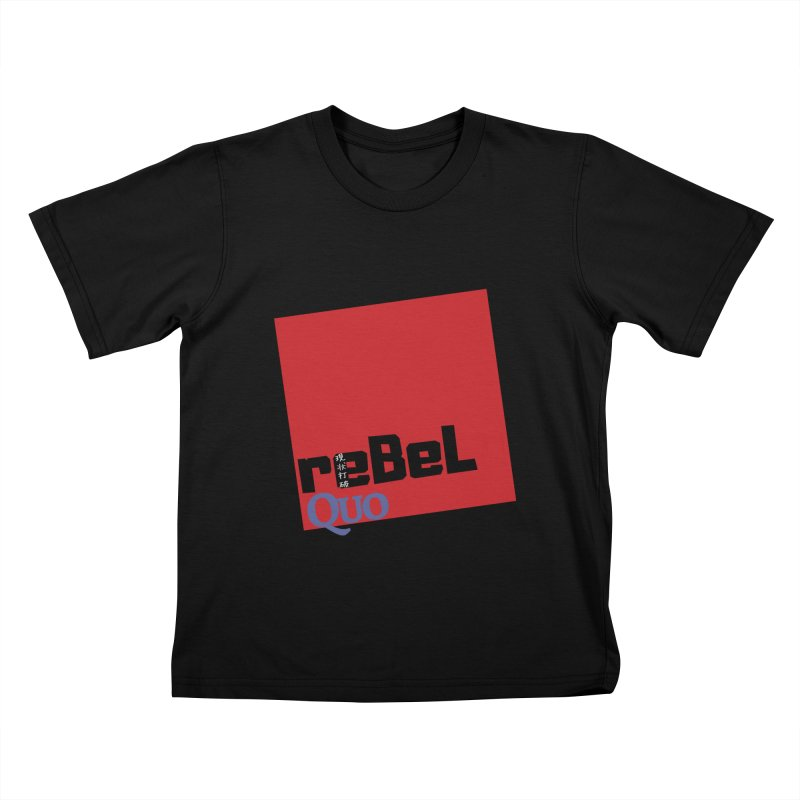 rebelQuo Logo Kids T-Shirt by rebelQuo