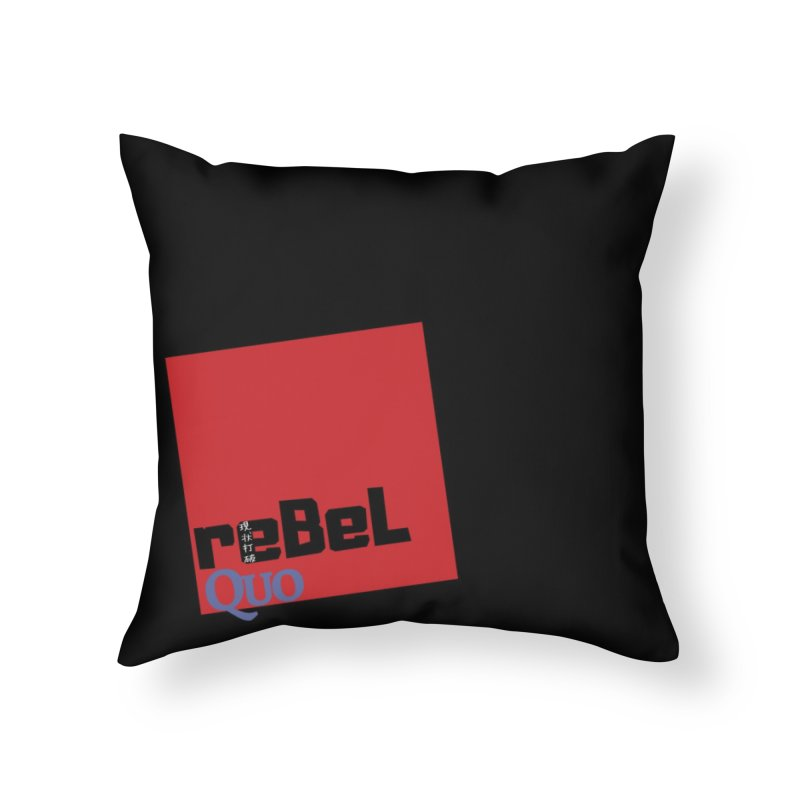 rebelQuo Logo Home Throw Pillow by rebelQuo