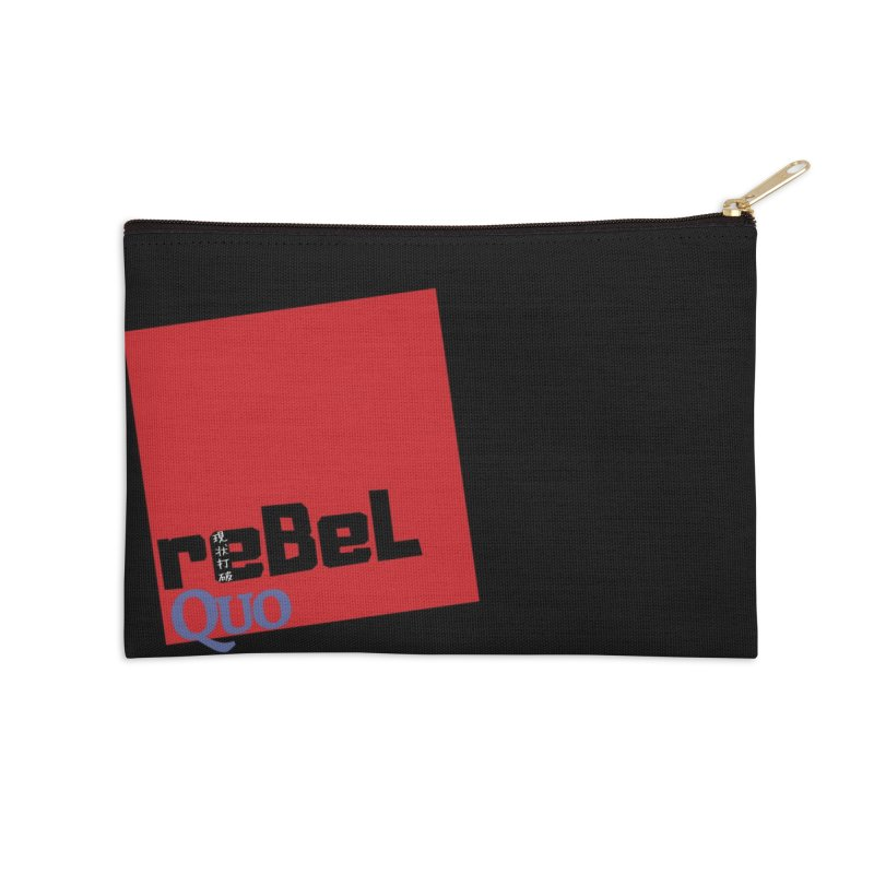 rebelQuo Logo Accessories Zip Pouch by LAINWEAR
