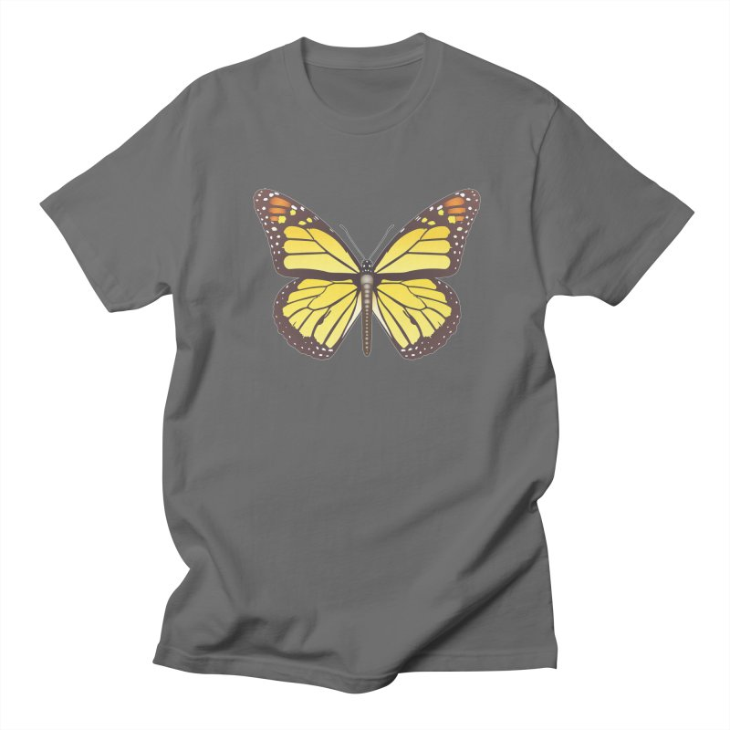 butterfly yellow monarch by lajarindream Men's T-Shirt by LajarinDream