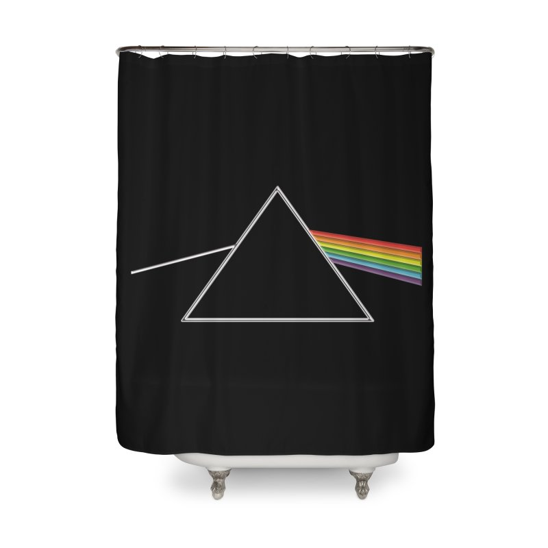 D04 - Isaac Newton Prism Experiment Home Shower Curtain by LajarinDream