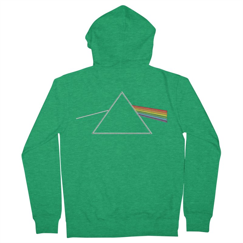 D04 - Isaac Newton Prism Experiment Men's Zip-Up Hoody by LajarinDream