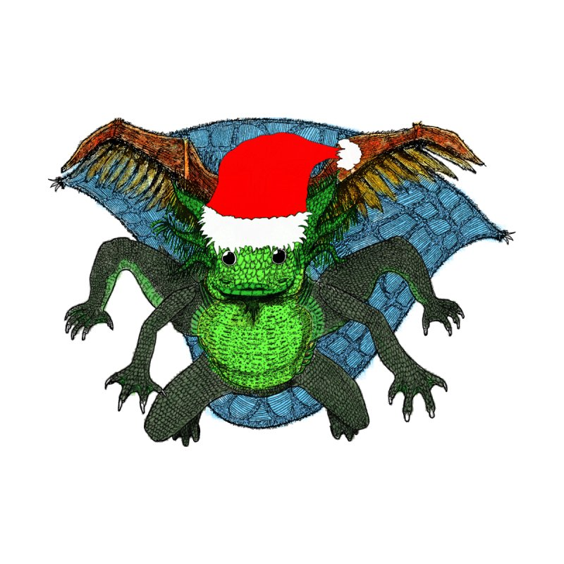 PC28 - Umatodo lizard happy christmas Women's Zip-Up Hoody by LajarinDream