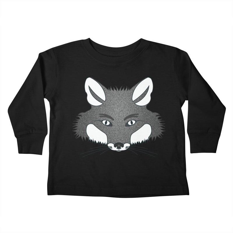 D17 Face Fox Gray V4 Kids Toddler Longsleeve T-Shirt by LajarinDream