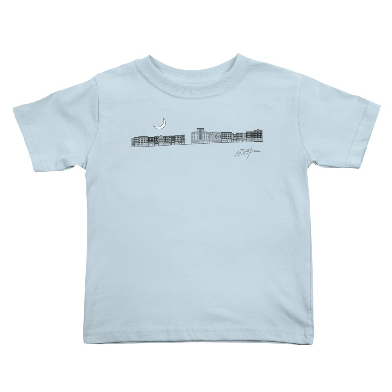 D20 Madrid Spain Montera street axis V1 B Kids Toddler T-Shirt by LajarinDream