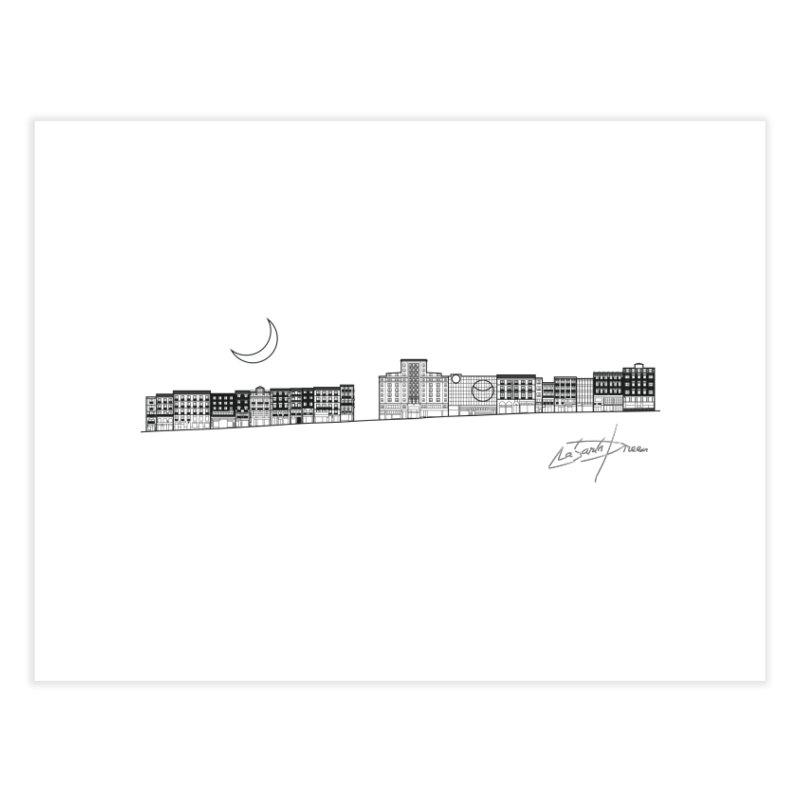 D20 Madrid Spain Montera street axis V1 B Home Fine Art Print by LajarinDream