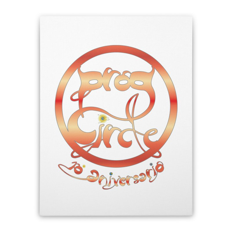 PC18 Prog Circle OFFICIAL RED 10 NONENIANO Home Stretched Canvas by LajarinDream