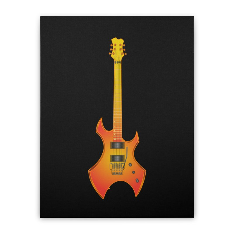 D11 Gold Rock Vertical Guitar Home Stretched Canvas by LajarinDream