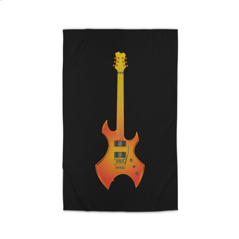 D11 Gold Rock Vertical Guitar Home Rug by LajarinDream