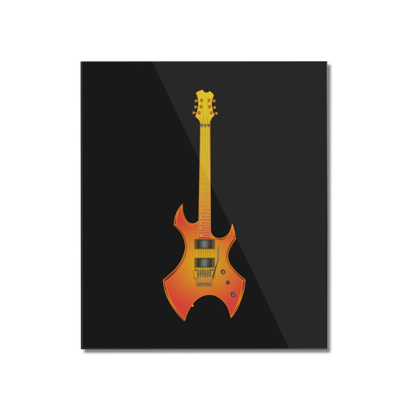 D11 Gold Rock Vertical Guitar Home Mounted Acrylic Print by LajarinDream