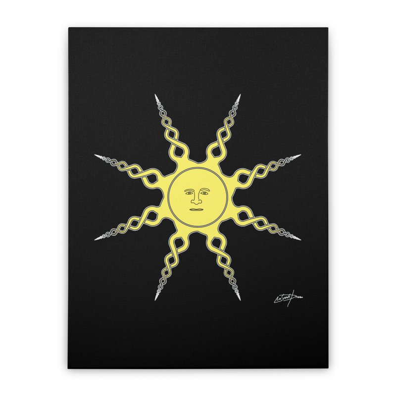 D22 Quiet sun yellow v1 Home Stretched Canvas by LajarinDream