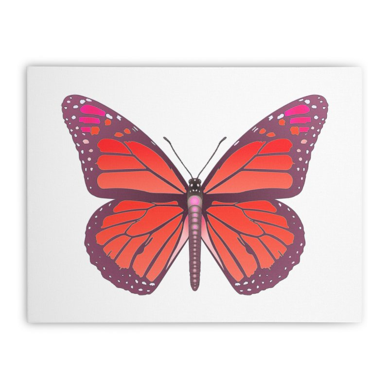 D28 monarch red butterfly by LajarinDream Home Stretched Canvas by LajarinDream
